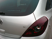 Repaired rear dent to Vauxhall Corsa